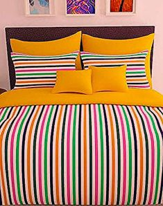 152 TC 100 Cotton Yellow 1 Double Bedsheet With 2 Pillow Cover 152 TC 100 Cotton Yellow 1 Double Bedsheet With 2 Pillow Cover, Brand Name : Story @ Home, Length (cm) : Pillow Width (cm) : Thread count : Print Yellow Bed Sheets, Yellow Bedding, Bedding Sets, Neutral Bedding, Grey Bedding, Bedroom Colors, Bedroom Decor, Bedding Decor, Boho Bedding