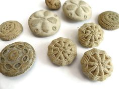 Antique Victorian Handmade Cloth Buttons
