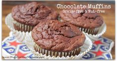 This chocolate muffin recipe is a great healthy snack for when you have a chocolate craving or want something a little sweet!