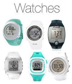 """Running Watches"" by ejianita on Polyvore featuring Garmin, Polar, Suunto and Soleus"