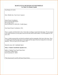 Block Style Letters Musician Resume Business Letter Example  Home