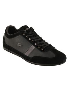 Lacoste Men's Misano 22 in Black The Misano 22 is still a stylish shoe for casual wear, but with a few tweaked details. The mix of leather and suede is chic and stylish, but has all easy comfort of a classic sneaker. With a reputation for being sporty and slim; these kicks will never go out of style.