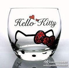 Hello Kitty 水晶杯
