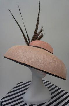 Apricot Audrey by JOHANNA GUERIN #millinery #HatAcademy