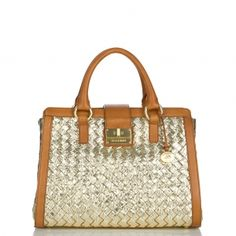 Woven metallic Satchel Bag