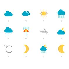 Simple and beautiful Weather Icons. #free #icons #weather #freebiesteam…