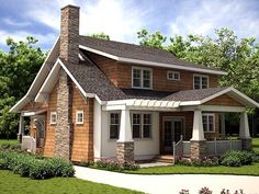Plan W18255BE: Craftsman, Country, Cottage, Narrow Lot House Plans & Home Designs