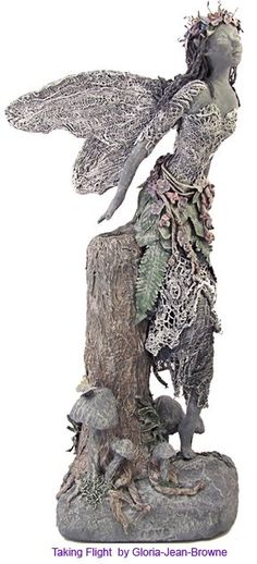 fairy garden sculpture by Gloria-Jean Bowne