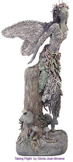 fairy garden sculpture by Gloria-Jean Bowne
