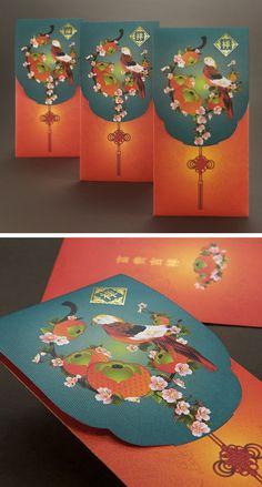 Auspicious Spring - CNY Ang Pao www. Chinese New Year Design, Chinese New Year Card, Envelope Design, Red Envelope, Asian Crafts, Chinese Festival, Chinese Element, Red Packet, Chinese Patterns