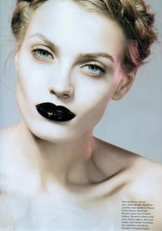 """makeupyourmood:    Anna Maria Jagodzinska in """"Vénéneuse""""by Liz Collins for Numéro #93 October 2008"""