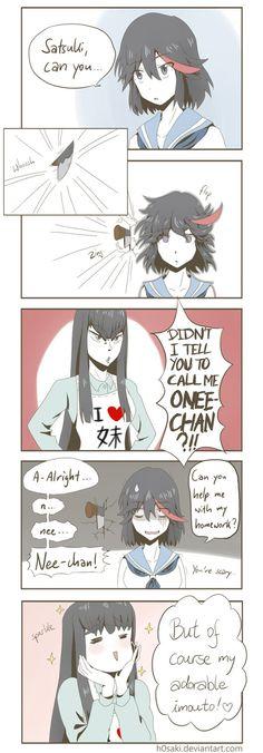 Kill La Kill Cosplay, Kill A Kill, Ichigo Y Rukia, Satsuki Kiryuin, Anime Nerd, Funny Comics, Manga Art, Funny Images, Kawaii Anime