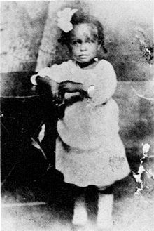 Billie Holiday, 2 years old