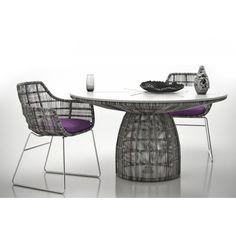 B&B Italia Crinoline Outdoor Gartentisch mit Polyethylenfasergeflecht Ø 138 cm