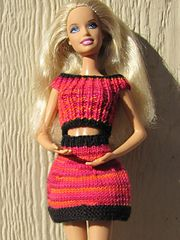 Ravelry: #0274 Top and Short Skirt pattern by stickatillbarbie.se