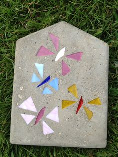 Arts and Crafts Garden Decor Sand Eteched Glass by DewpointGardens Garden Stones, Stepping Stones, Tiles, Etsy Seller, Arts And Crafts, Butterfly, Gardening, Ceramics, Create