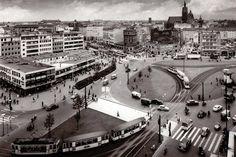 1957: Ein Blick vom Anzeigerhochhaus über das Steintor | Quelle: Wilhelm Hauschild