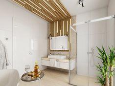 Dámská koupelna s dřevěným obložením | AŤÁK DESIGN Oversized Mirror, Divider, Room, Furniture, Home Decor, Bedroom, Decoration Home, Room Decor, Rooms