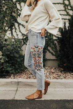 Dazey Embroidered Jeans   ROOLEE
