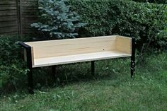 Wooden/black steel bench #scandidesign #scandinavian #bench #steel #wood
