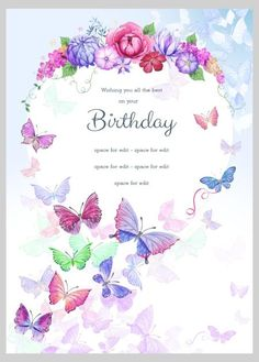 Victoria Nelson - Birthday Butterflies Floral 2