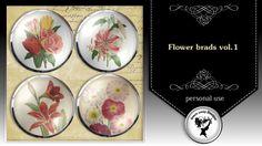 Flower brads vol.1 by Black Lady Designs
