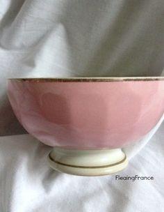 FleaingFrance......Pink Cafe Au Lait Bowl