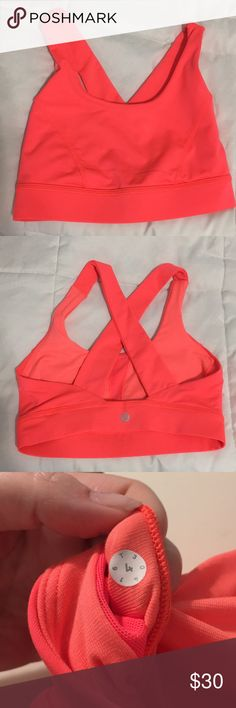 6e471974ad Lululemon All Sports Bra Orange Coral Size 4 Pre-loved lululemon All Sports  Bra.
