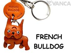French Bulldog Leather Dog Small Keychain VANCA CRAFT-Collectible keyring Made in Japan 2 Five Star Reviews Valentines Day Gifts For Him, Leather Keychain, Leather Craft, Small Dogs, French Bulldog, Japan, Personalized Items, Pendant, How To Make