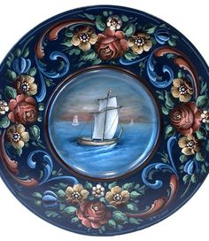 Hindelooopen Jacht (Dutch word for yacht) by David Jansen. E-packet available… China Painting, Tole Painting, Painting On Wood, Watercolor Painting, Holland, Rosemaling Pattern, Tole Decorative Paintings, Norwegian Rosemaling, Scandinavian Folk Art