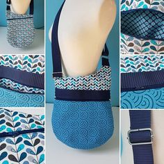 lomasidylle Je sors de ma zone de confort avec ce sac à bandoulière réglable, qui comporte 2 grandes poches zippées. Modèle sacotin (Bebop). #sewing #sacotin #bebop #blue