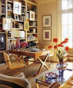 45 ideas for modern home office design 34 Home Office Design, Home Office Decor, Home Decor, Office Ideas, Desk Ideas, Office Furniture, Home Libraries, Interior Decorating, Interior Design