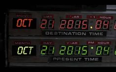 Back to the Future, Future Date...I feel like we should have a party or something on that day ;)