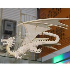 Free Shipping 3D Puzzle Educational Toys for Children Diy Wooden Animals Model Chinese Flying Dragon Puzzle Home Decoration
