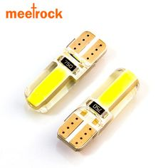 Newest T10 W5W LED car interior light cob marker lamp 12V 194 501 bulb wedge parking dome light white auto for lada car styling  Price: 5.34 USD