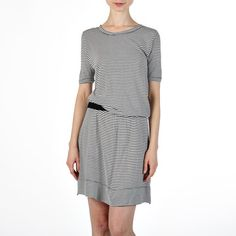 Bliss Dress Black White Stripe, $45, now featured on Fab.