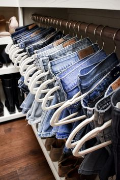 My Closet Tour and Tips for Keeping an Organized and Beautiful Wardrobe Step-by-step tips for organizing your closet and keeping it that way, including how to style it for your personality and tips for perfectly hung jeans! Best Closet Organization, Closet Storage, Organization Ideas, Attic Storage, Bag Storage, Storage Ideas, Dresser Drawer Organization, Refrigerator Organization
