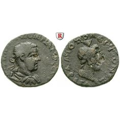 Römische Provinzialprägungen, Kilikien, Flaviopolis, Valerianus I., Bronze 253/254 (Jahr 181), s-ss: Kilikien, Flaviopolis. Bronze… #coins
