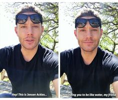 oh Jensen lol ^_^ || Jensen Ackles is going to be a judge for Film Fu Fight Fest 2017 (April-30-17) video on FB #Jensen #cutie #dork #funny