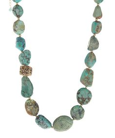 Look what I found on #zulily! Turquoise Nugget Necklace #zulilyfinds