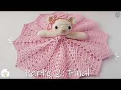 In this video you will learn how to crochet this adorable bunny blankie/lovie. It is so soft and cuddly it is sure to become one of your babies favorite item. Crochet Doily Rug, Crochet Lovey, Crochet Gifts, Baby Blanket Crochet, Crochet Dolls, Crochet Patterns, Quilt Baby, Crochet Security Blanket, Baby Knitting