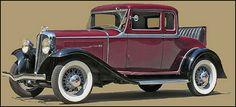 1932 Rockne Model 75, 4-passenger Coupe - (Studebaker Corporation, South Bend, Indiana 1932-1933)
