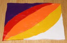 sunset polymer clay blend