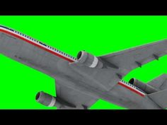 best animated plane flying in green screen HD - YouTube