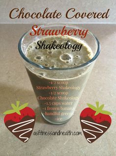 Try this Chocolate Covered Strawberry Shakeology recipe! A healthy sweet treat for any fit mom and toddler approved! http://www.thefitandfreemama.com/recipes.html