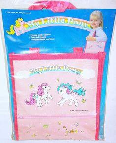 Hasbro CDI My Little Pony 9 5 x 10 Tote Bag Original Accessorie Set MIB`86