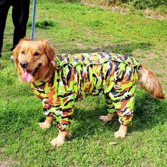 Detachable Fastener Outdoor Hoodie Pet Poodle Raincoat Rainwear Waterproof Jacket