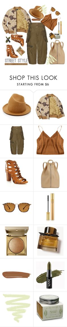"""""""Street style"""" by gul07 ❤ liked on Polyvore featuring Marc Jacobs, Matt & Nat, Ray-Ban, Yves Saint Laurent, Stila, Burberry, By Terry and Nostalgia"""