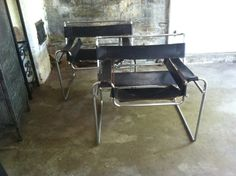 MARCEL BREUER CHAIRS Wassily L3 Chrome Tubular Metal Black Brown Leather Strap Chairs Harness Furniture Chair Mid Century Modern Arm Chair