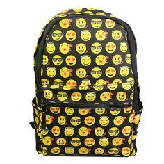 Купить товарМужская холст Emoji школьные книги мешок смайлик рюкзак улыбающееся лицо день пакет плеча школьный студент малыш мальчик девочка карманы в категории  на AliExpress.                     Пункт:              Изготовлен из материал, прочный для использования